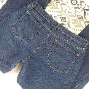 Ann Taylor LOFT 16 Curvy Bootcut Denim Blue Jeans